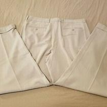 Mens Tommy Bahama Silk Dress Pants 35x32 Khaki Slack Trouser 36x32 Photo
