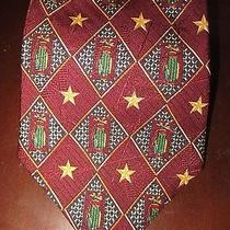Mens Tommy Hilfiger Golf Bag Burgundysilk Neck Tie 57