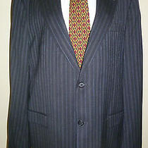 Mens Tommy Hilfiger High End Pin Striped Pant Suit 44xl 38x30 Photo
