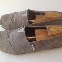 Mens Toms Mustaches Gray Courderoy Fabric Espadrilles Shoes Sz 8. Great Deal Photo