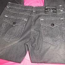 Mens True Religion Jeans Black Rainbow Billy Row 40 Seat 34   Photo