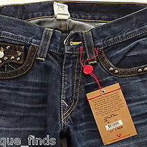 Mens True Religion Jeans Ok Corral Joey  Bootcut Twisted Inseam Seat 34 Photo