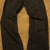 Mens True Religion Ricky Black Jeans Seat 34 Size 36 Actual Size  39 X 34 .5  Photo