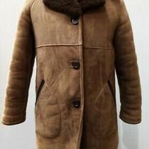 Mens Unbranded Genuine Real Sheepskin Brown Parker Coat With Lined Pockets 786 Photo