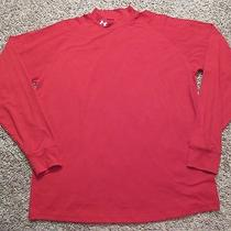 Mens - Under Armour Shirt - M - Loose L/s - Mock Turtle - Workout Sports Gear Photo