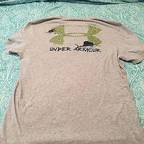 Mens Under Armour Tee Size Med Gray Loose Fit Heatgear Photo