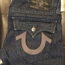Mens Used True Religion Denim Seat Size 34 Length 31 Photo