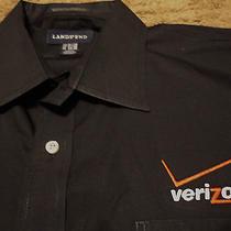 Mens Verizon Wireless Long Sleeve Embroidered Oxford Style Black Shirt Xl  Photo