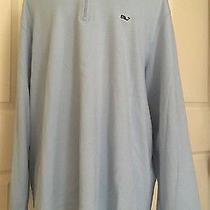 Mens  Vineyard Vines 1/4 Zip Light Blue  Pullover Sweatshirt  Xl Photo