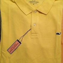 Mens Vineyard Vines Classic Sun Ray Yellow Polo Shirt Xl  Xlarge New Nwt Photo