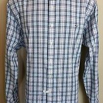 Mens Vineyard Vines Slim Fit Whale Blue Plaid Long Sleeve Shirt Xl Msrp 98 Photo