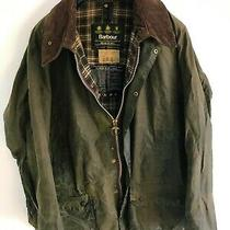 Mens Vintage Barbour Beaufort Wax Jacket Green Coat 52in Size 2xl/3xl  Photo