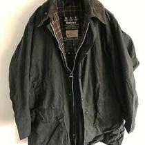 Mens Vintage Barbour Border Wax Jacket Blue Coat 46in Size Extra Large / 2xl 1 Photo