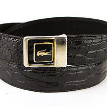 Mens Vintage Black Genuine Crocodile Belt Size 30 Awesome Croc Icon Buckle Vgc  Photo