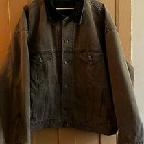 Mens Vintage Brown Duck Canvas Carhartt Detroit Jacket Coat 3xlt Blanket Lined Photo