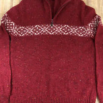 Mens Vintage Express Rag Wool Sweater Made in Japan Size Xl 1/2 Zip Front Photo
