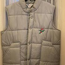 Mens Vintage Puffy Vest Diet 7-Up Grey Avon Sportswear Xl Sosa Pop Drink Retro Photo