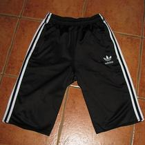 Mens Vintage Retro Olschool Black Adidas Shorts  Photo