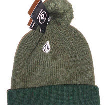 Mens Volcom Beanie Hat Green Cap One Size Photo