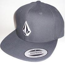Mens Volcom Snapback Adjustable Hat Dark Gray Cap One Size Photo