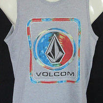 Mens Volcom Tank Top Gray Modern Fit Size S Photo