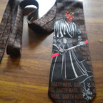 Mens Vtg Neck Tieralph Marlin Inc. Star Wars Darth Maul