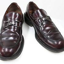 Mens Vtg Versace V2 Leather Slip on Loafer Dress Casual Shoes Us 9 Euro 42 Uk 8 Photo