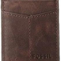 Mens Wallet Brown 100% Leather W Money Clip Gift Dad Present Card Id Credit New Photo
