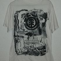 Mens White Element Graphic T Shirt Size M Medium  Photo