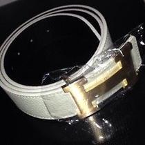 Mens White Hermes Belt  Photo