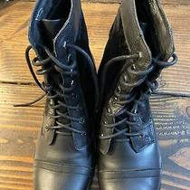 Mens X Element Motorcycle Boots 8.5 M Black Leather Horse Hair Cut Out on Sides Photo