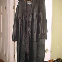 Mens Xl Full Length Leather Jacket - Like New  Photo
