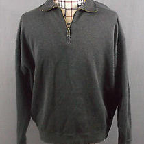 Mens Xl Tommy Bahama 1/4 Zip 100% Cotton High End Pullover Sweater Designer Photo