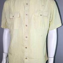 Mens Yellow Billabongtattersall Check Pattern Casual Surf Shirt Large Surfing Photo