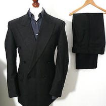 Mens Ysl Yves Saint Laurent Double Breasted Grey Suit Uk 46
