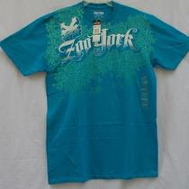 Mens Zoo York Signature Script Logo Graphic Tee Size L Aqua Blue Nwt Free Ship Photo