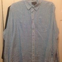 Mensblack Brown Plaid Shirt Long Sleeve Button Down Collar 2x Tall Photo