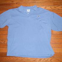Menslacoste Polo Size 8  Polo Blue Golf Polo Shirt Photo