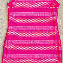 Mercer & Blush Womens Neon Pink Banded Stretch Sheath Dress Nwot L Photo
