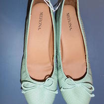 Merona Ballet Flats Light Green (Seafoam Aqua Teal) New W/tags 7 Cute & Comfy Photo