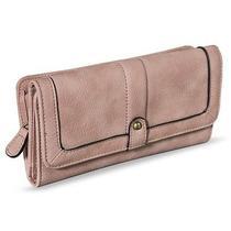 Merona Solid Wallet Snap Closure - Blush Pink Photo