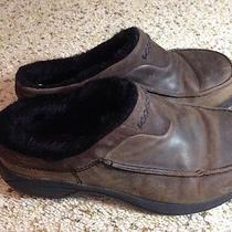 Merrell Clog Suede/fur  Brown  Women's Measures 9