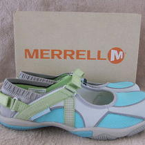 Merrell J89018 Barefoot River Glove Ash & Aqua Water Shoes Us 7.5 Eur 38 Nwb Photo