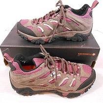 Merrell Moab Waterproof Women's Sz 8.5 M Athletic Hiking Sneakers Boulder Blush Photo