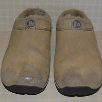 Merrell Primo Chill Slide Natural Tan Clogs W Faux Wool Lining Womens Size Us 7 Photo