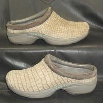 Merrell Primo Safari Women's Sage Taupe Croc Print Nubuck Mule Shoes Size Us 7 Photo
