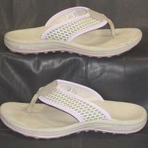 Merrell Stratis Orchid Bloom Gray & Purple Thong Mules Sandals Women's Size Us 6 Photo