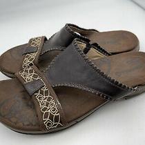 Merrell  Sweetpea Slide Sandals Qform Cushion Brown Shoes Women's Sz 9 1599 Photo