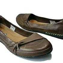 Merrell Whisper Flush Slip on Flats Espresso Brown Leather Select Grip Sz 10 Photo