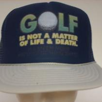 Mesh Foam Trucker Hat Ball Cap Navy Blue Gray Golf Not Life Death See Picture Photo